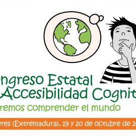 Ayúdanos a difundir el Congreso Estatal de Accesibilidad Cognitiva