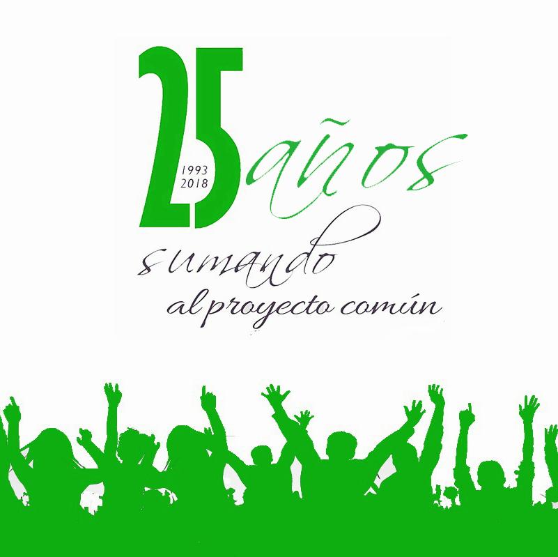 Celebramos nuestros 25 años de proyecto común