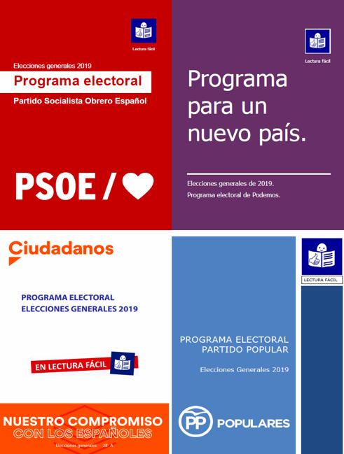 Programas electorales en lectura fácil