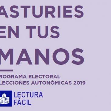 Podemos Asturies adapta a lectura fácil su Programa para las Elecciones Autonómicas de 2019