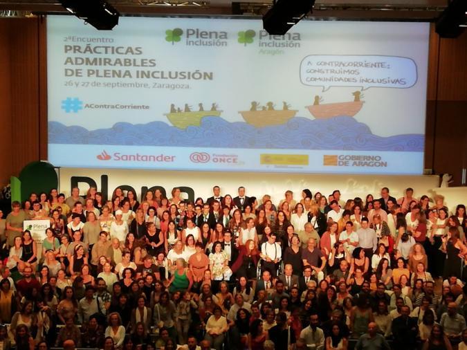 Plena inclusión eligió sus prácticas admirables en Zaragoza y celebró una gran fiesta de participación e innovación social
